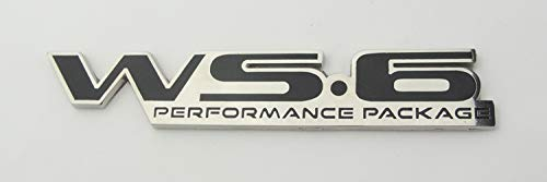 Pontiac Firebird Trans Am WS6 Rear Bumper Badge Emblem BLACK