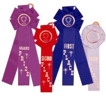 Grand Prize, Rosette Placement Ribbons, Purple, pack of - Grand Prize Prize Second