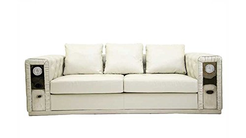 Versace style special quality italian leather sofa buy Versace sofa