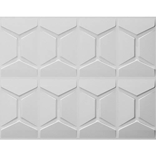 Fiber Plant (Art3d White Decorative 3D Wall Panels Comb Design Pack of 6 Tiles 32 Sq Ft (Plant Fiber))