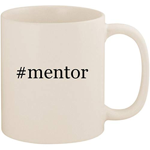 #mentor - 11oz Ceramic Coffee Mug Cup, White