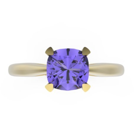 TILYA Bagues Argent Tanzanite Bleu Violet 0,8 Coussin
