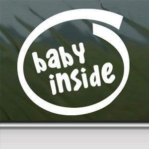 Baby Inside White Sticker Decal Car Window Wall Macbook Notebook Laptop Sticker Decal