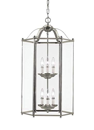 Sea Gull 5233EN-962 Bretton Pendant, 6-Light 21 Total Watts, Brushed Nickel ()