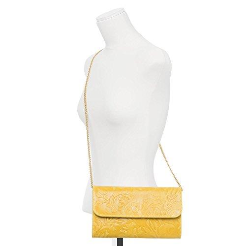 Santa Firenze, Borsa a spalla donna giallo giallo