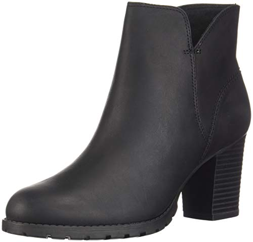 CLARKS Women's Verona Trish Fashion Boot, Black Leather, 095 M US