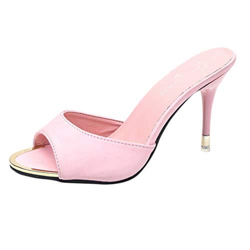 Malbaba Moda Mujer Sandalias Zapatos de verano Fiesta Tacón alto Estilete Sandalias de punta abierta