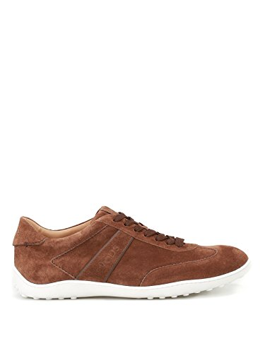 Tod's Sneaker Active 08A in Suede Marrone Uomo