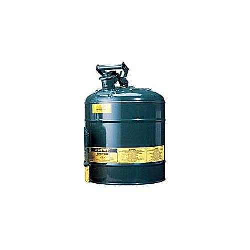 Justrite Type I Safety Can, For Oil-based Fuel Storage, Green (5 Gallon)