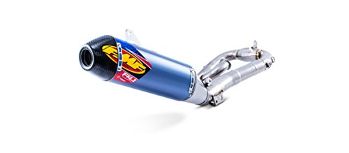 FMF Racing Factory 4.1 RCT Full System - Blue Anodized - Carbon Endcap, Color: Blue, Material: Aluminum - Exhaust Anodized Muffler