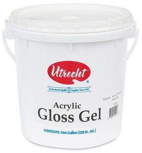 Utrecht Acrylic Medium - Gloss Gel Medium, Gallon