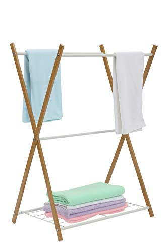 (JEROAL Towel Rack Rail Stand Bathroom Storage Rack Laundry Drying Rack)