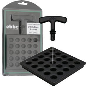 Ebbe E4407 Square Shower Drain Grate, Oil Rubbed Bronze by Ebbe by Ebbe