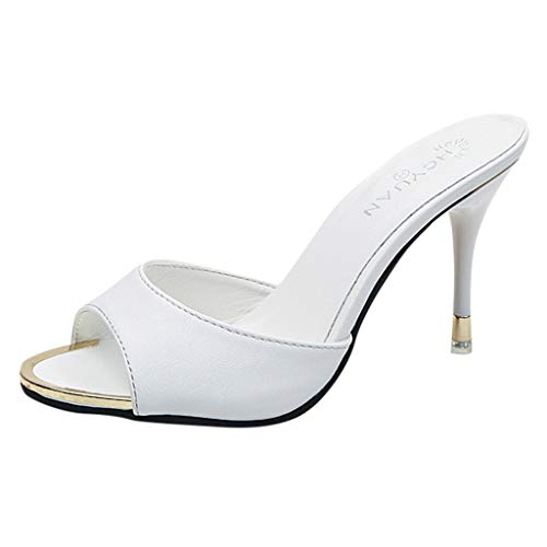 Fashion Women Sandals Summer Shoes Party High Heel Stiletto Open Toe Sandals ()