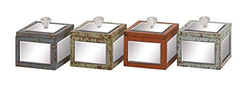 UMA Deco 79 76172 Wood Mirror Jewlery Box Set of 4