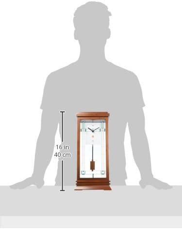 Bulova B1839 Willits Frank Lloyd Wright Mantel Clock 14 Walnut Finish