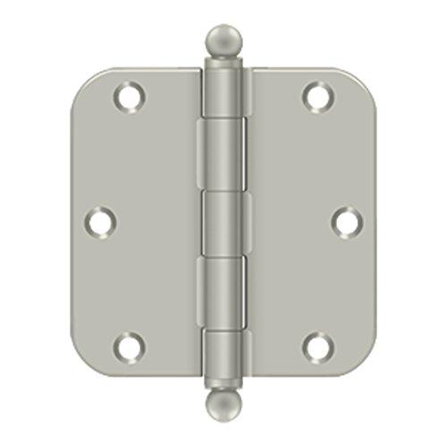 3.5 in. x 3.5 in. x 0.63 in. Radius Steel Hinge (Set of 10) (Satin ()