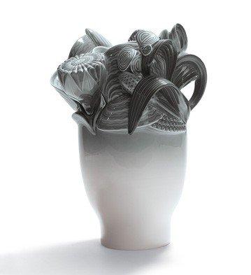 Lladro Porcelain Naturofantastic Small Vase Gray by Lladro Porcelain