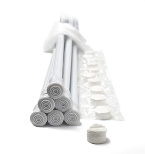 Danily Pack of 6 Cupboard Bars Adjustable Spring Loaded Tension Curtain Rods 28 to 48 Inches, White, Comes with Multipurpose Compressed Towels ()