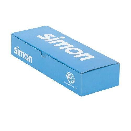 Tapa ciega estrecho Simon 27 Play Blanco