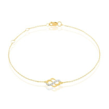 HISTOIRE D'OR - Bracelet Or Et Diamants - Femme - Or jaune 375/1000 - Taille Unique