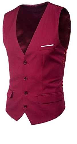 Comfy Mens Single Breasted Slim Fit Casual V Neck Fashion Vests Tee for sale