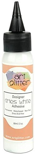 Art Institute Glitter Designer Dries Adhesive Sheet, White, 2-Ounce