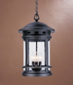 Designers Fountain 2394-ORB Sedona Hanging Lanterns, Oil Rubbed Bronze (Outdoor Pendant Sedona)