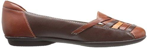 Brown Gemma Women's CLARKS Flat Multi Leather Gracelin Oa1EqI