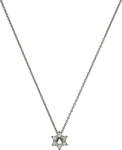 Roberto Coin Tiny Treasures 18k White Gold Diamond Star of David Pendant Necklace (Necklace Diamond Coin / 18k Roberto)