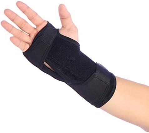 HEALLILY Handgelenkstütze mit Daumenloch für Unisex - Schwarzer Sport Soft Wrist Manschettenband Elastisches Training Atmungsaktiver Handgelenkstützschutz (1 Stück Größe L)