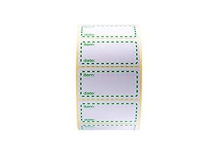 Gr/ö/ße 50x25mm Datum Etiketten Gr/ün Selbstklebend Haushaltsetiketten 500 x Gefrieretiketten auf Rolle
