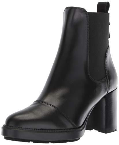 Aquatalia Women's Ivory Calf Elastic Ankle Boot, Black, 6.5 M US