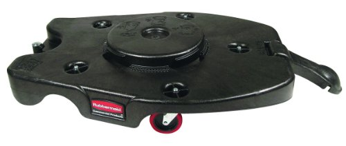 Rubbermaid Commercial FG353000BLA HDPE Brute Square Dolly for 3256 and 3536 Containers (Trainable Dolly Commercial)