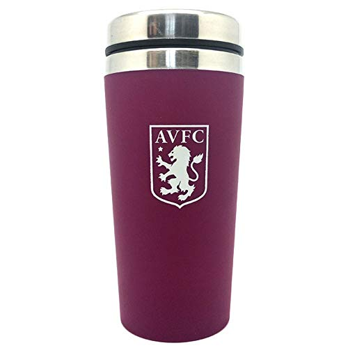 Spot On Gifts Football Club Aluminium Travel Mug (One Size) (Aston Villa) (Aston Villa Hat)