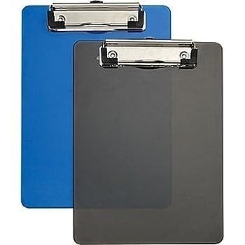 "Staples® Plastic Memo Clipboards, Black & Blue, 2/Pack, 6"" x 9"", 2/Pack"