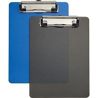 Staples® Plastic Memo Clipboards, Black & Blue, 2/Pack, 6' x 9', 2/Pack