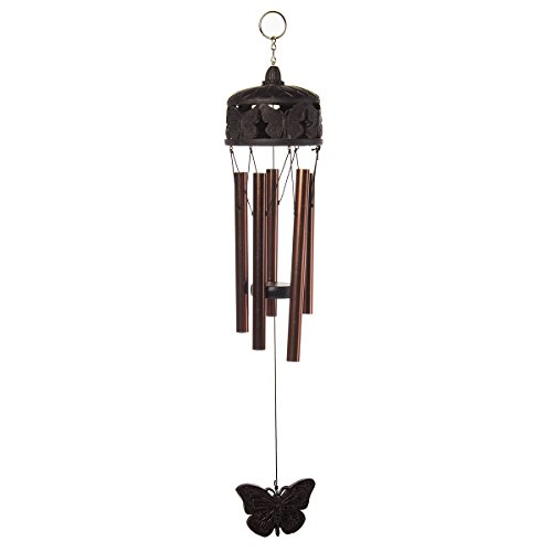 Bell Garden Bronze (Russco lll WC109538 Oil Rubbed Butterfly Wind Chime, Bronze)