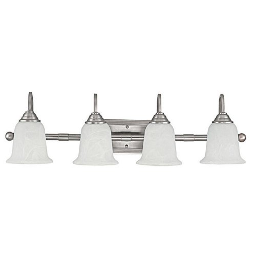 Capital Lighting 1794MN-223 Vanity with Faux White Alabaster Glass Shades, Matte Nickel Finish