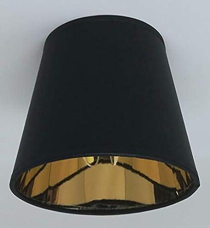 Negro vela diseño de forro de tela para lámpara de techo ...