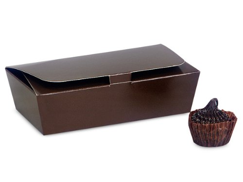 Chocolate Tapered Candy Box 1/4 lb Single Layer 4-1/2x2-1/2x1-1/8