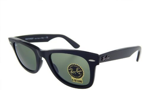 New Ray Ban Orginal Wayfarer RB2140 901 Black/Crystal Green 54mm - 901 Original Rb2140 Wayfarer