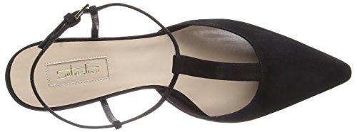 Sebastian Dames S7600sf Suedeblack T-slides Sandalen Zwart (zwart)