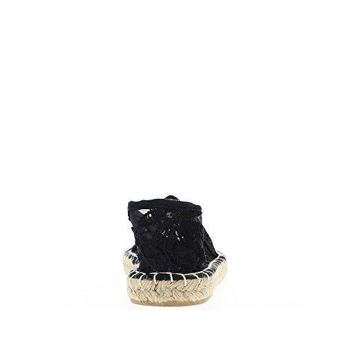 Espadrilles noires dentelle transparente