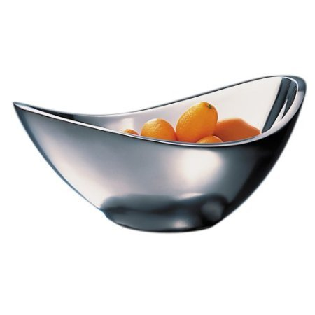 Nambé Butterfly Bowl, 7-Inch with a Free Polish Kit by Nambe