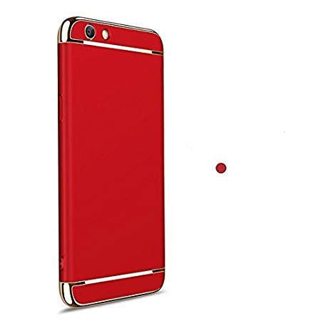 best loved 5e3a5 d662d Explocart Electroplated Luxury 3-in-1 Slim Fit 360 Protection Hybrid Hard  Bumper Back Case Cover for Oppo RealMe 1 Cover - Red and Gold