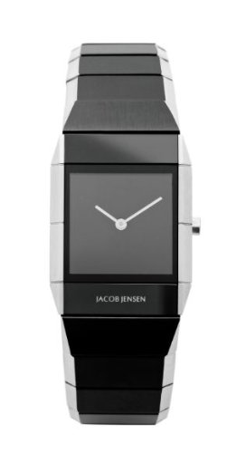 Jacob Jensen 560 Stainless Steel Black Dial Sapphire Crystal Women's Watch