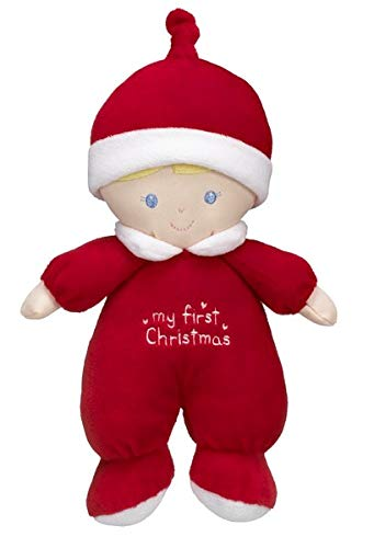 Ganz My First Christmas Red 9 Inch Christmas Rattle Baby Doll from Ganz