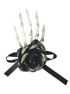 Haunted Halloween Hand Barrette Hair Clip - Ganz Boo Barrette (Green) -