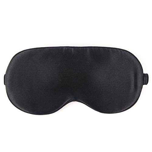 NMM Global Mulberry Natural Silk Sleep Mask for Women & Men with Elastic Strap, Super Soft Sleeping Eye Mask for Adults 9 Color Options ()